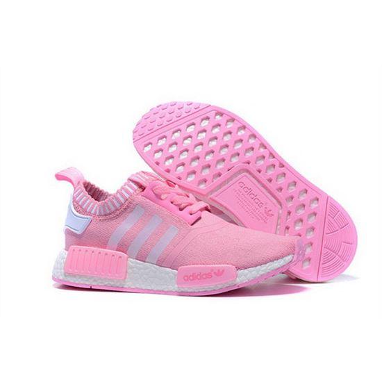 Adidas Originals Nmd R1 Runner Primeknit Women Pink White Yeezy